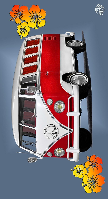 MANAGAL MGN 128 Combi Rouge - Drap de Plage Coton Gris Clair 95 x 175 x 1 cm