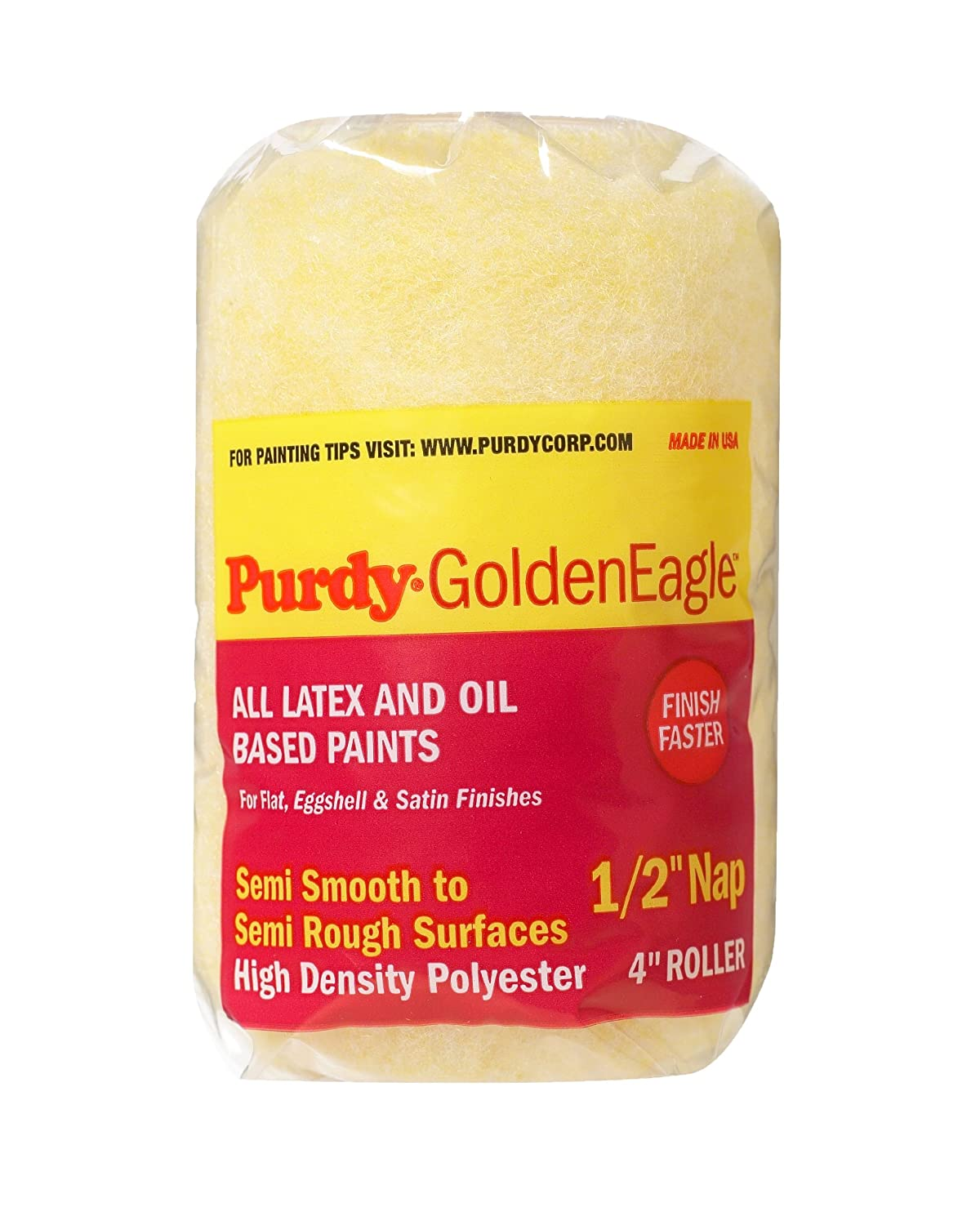 Purdy 140786604 Golden Eagle Roller Cover, 4 inch x 1/2 inch nap