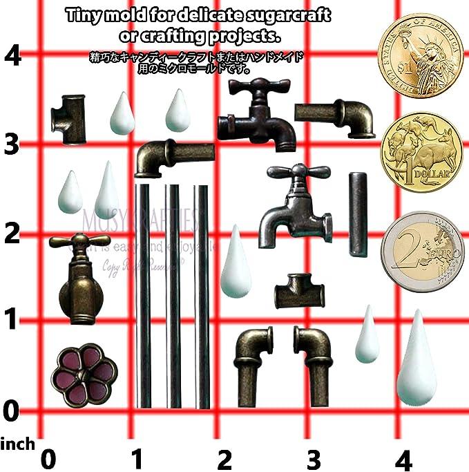 musykrafties Moule en Silicone en Forme de Tuyau de plomberie et Robinet pour d/écoration de g/âteaux Argile