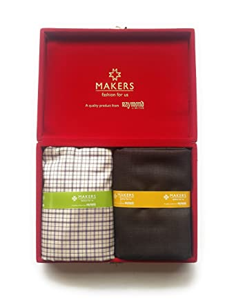 677a2d271 Raymond Makers Men s Unstitched Shirt   Trouser Fabric Combo (Multicolour