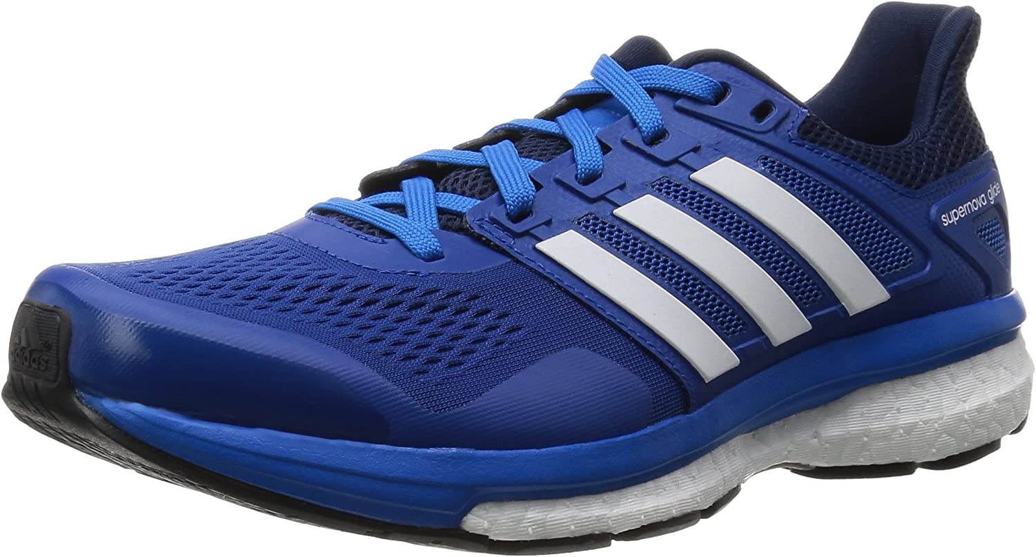 Adviento Melodrama calentar  Adidas Men's Supernova Glide 8 M, Blue/White, 12 M US: Amazon.ca: Shoes &  Handbags