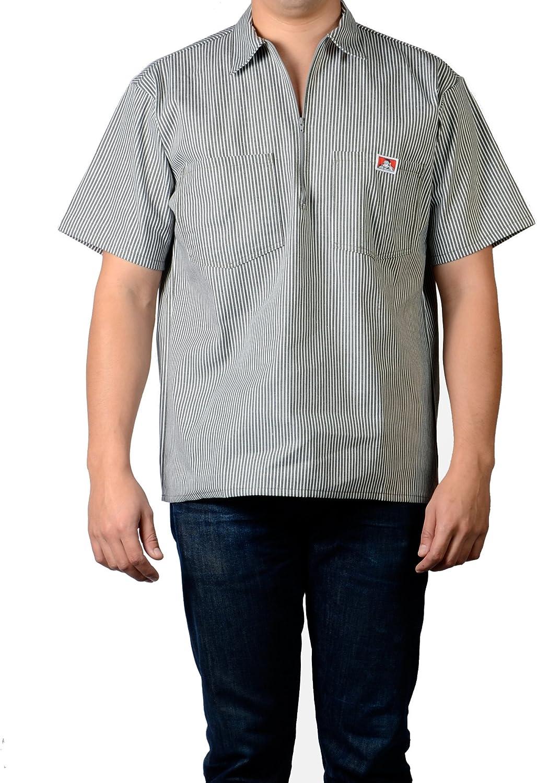 Workwear since 1935 ORIGINALE Ben Davis half zip Sleeve Shirt Stripe Hickory