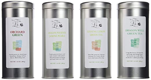 The Fine Life Ideal Loose Leaf Teas 4-flavor Selection 14oz (Green)