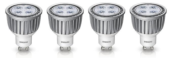 4 unidades Bombilla LED Samsung Performer Spot bombilla LED reflectora PAR16 GU10 6 W, equivalente