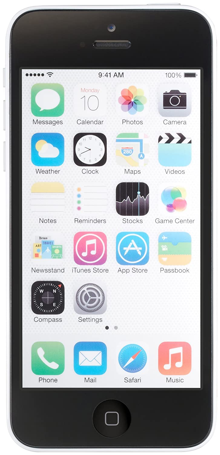 Apple iPhone 5C 16 GB AT&T, White (Refurbished)