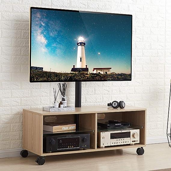 RFIVER Soporte TV con Ruedas para Televisiones LCD LED OLED QLED ...