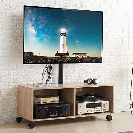 Tavolino Porta Tv Con Ruote.Rfiver Mobile Tv Con Ruote Da Pavimento Mobiletti Da Soggiorno