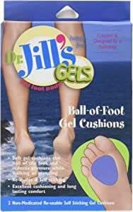 "Dr. Jill's Ball-of-foot Gel Cushions, 1/4"" Thick, 2/box"