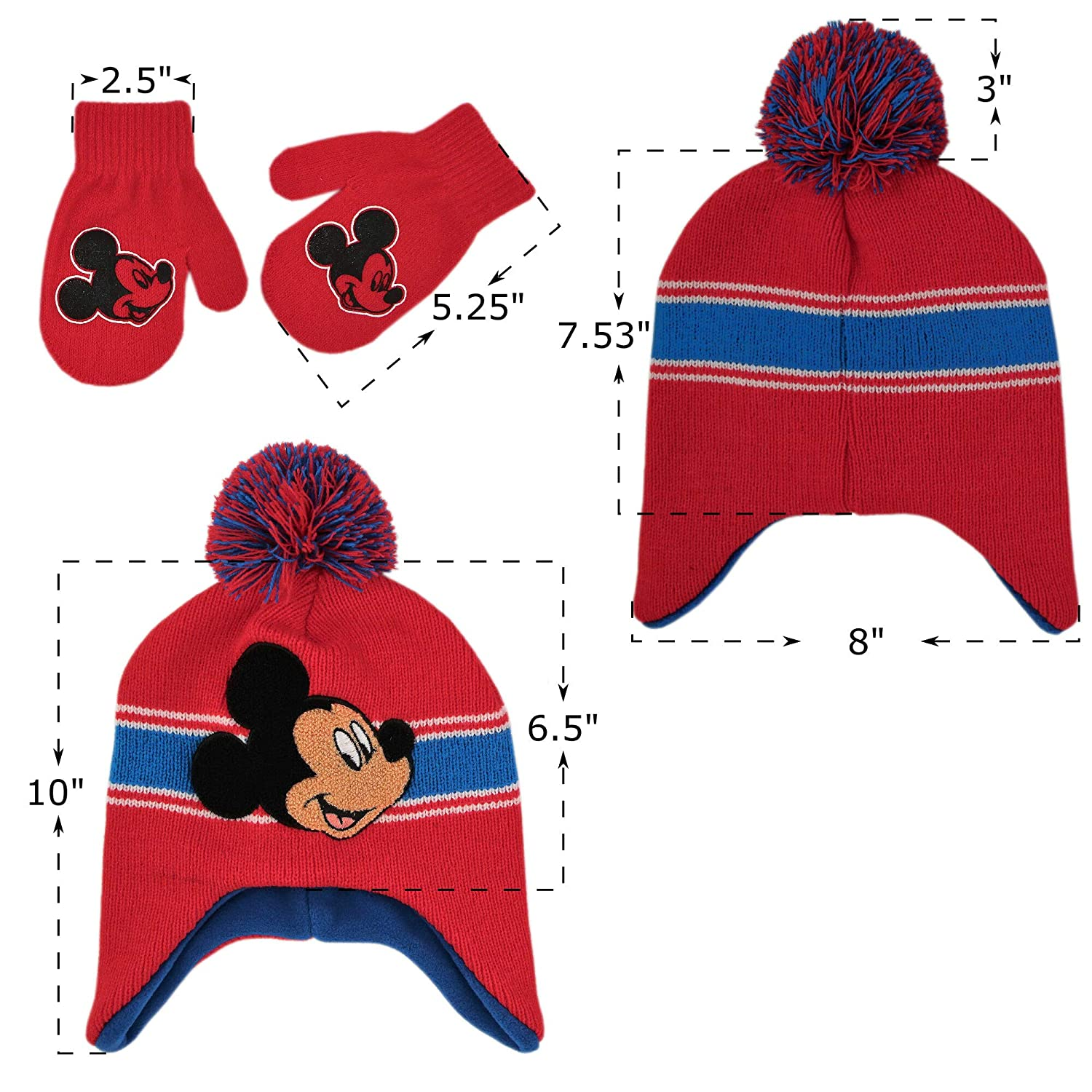 3852785eb5e Disney Toddler Boys Mickey Mouse Hat and Mittens Cold Weather Set ...