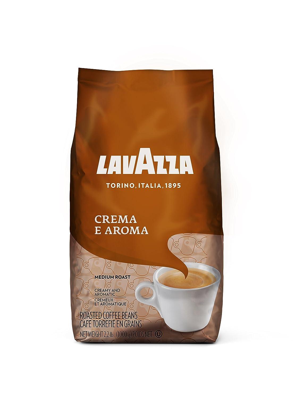 Lavazza Crema E Aroma Coffee Beans 2.2-Pound Bag (Pack Of 6)