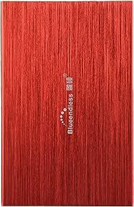 Disco duro externo portátil Bluendless de 2,5 pulgadas, 250 GB, USB 2.0. Ideal para ordenador portátil de escritorio rojo rosso 500 gb