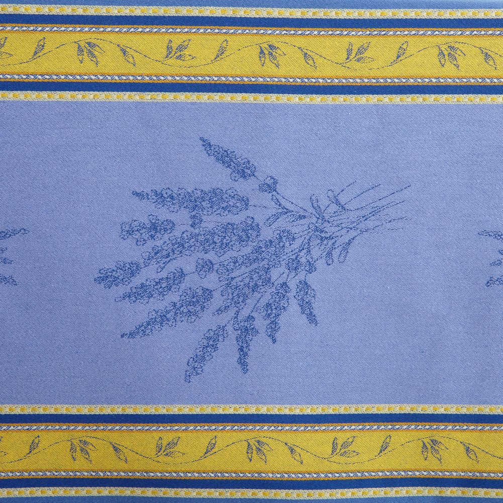 Senanque Bleu French Jacquard Tablecloth, 63 x 79 (4-6 people) by Occitan Imports (Image #3)