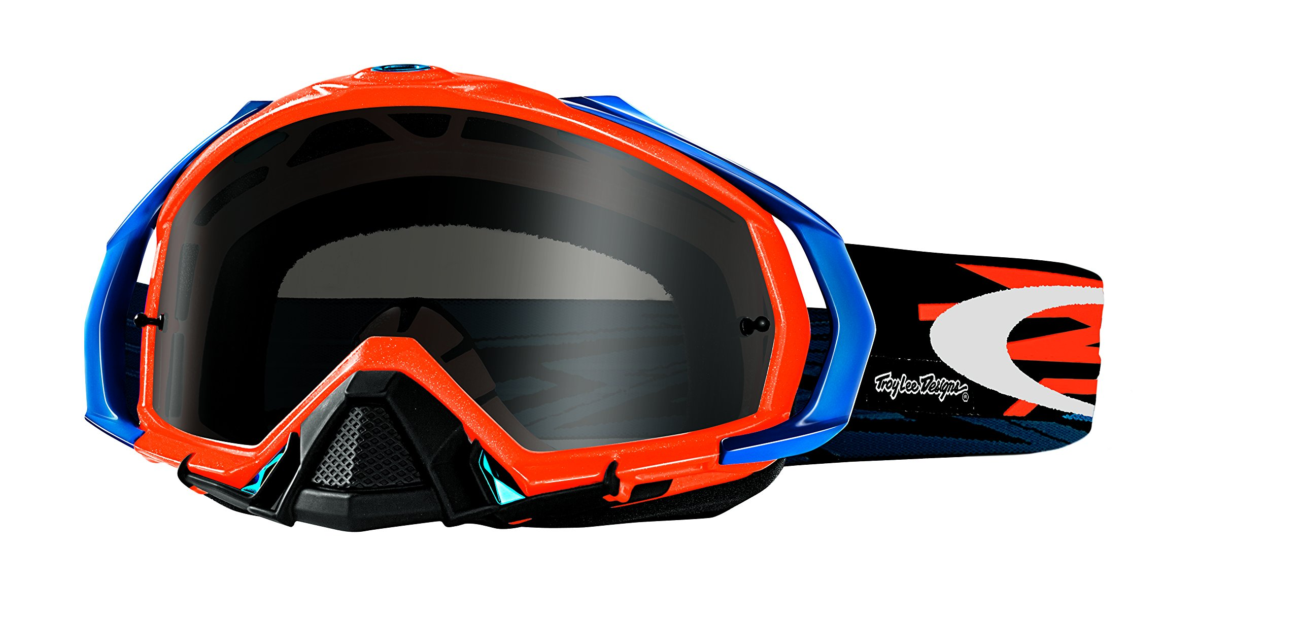 Oakley Mayhem Pro TLD Zap Goggles (Orange Frame/Dark Grey Lens)