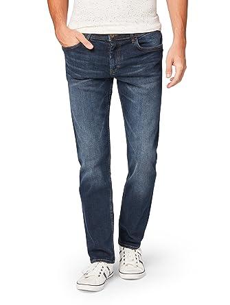 6b73392e182f TOM TAILOR für Männer Jeanshosen Marvin Straight Jeans Dark Stone wash Denim,  32 34