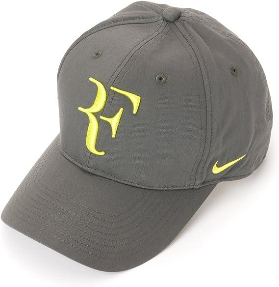 Cuidado revolución Vaticinador  Amazon.com: Para hombre Nike Roger Federer RF Hybrid – Gorra ajustable Base  Gris/Venom Verde 371202 – 016: Clothing