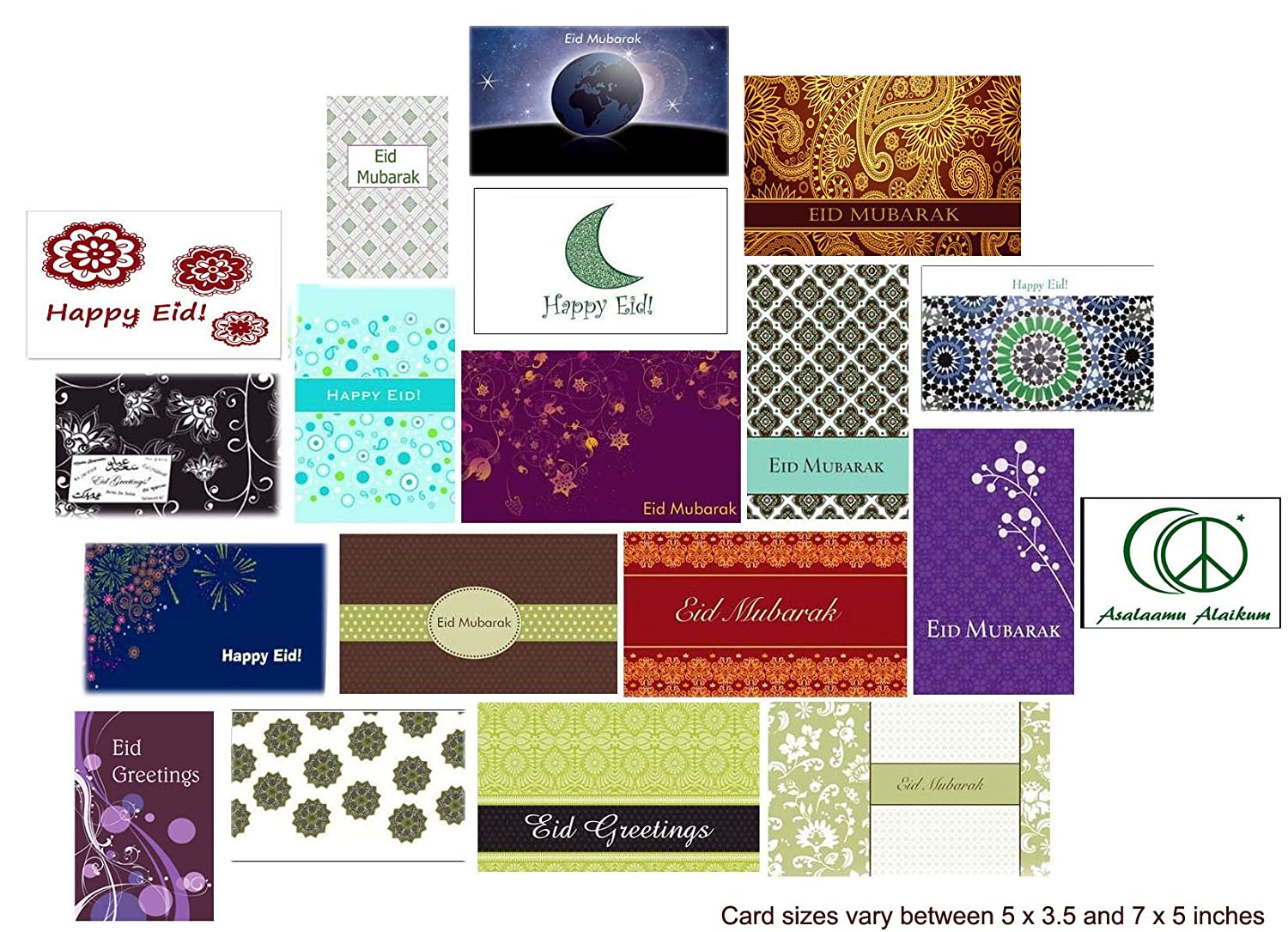 Amazon Eid Cards Random Mixed Abstract Designs Pack Of 10