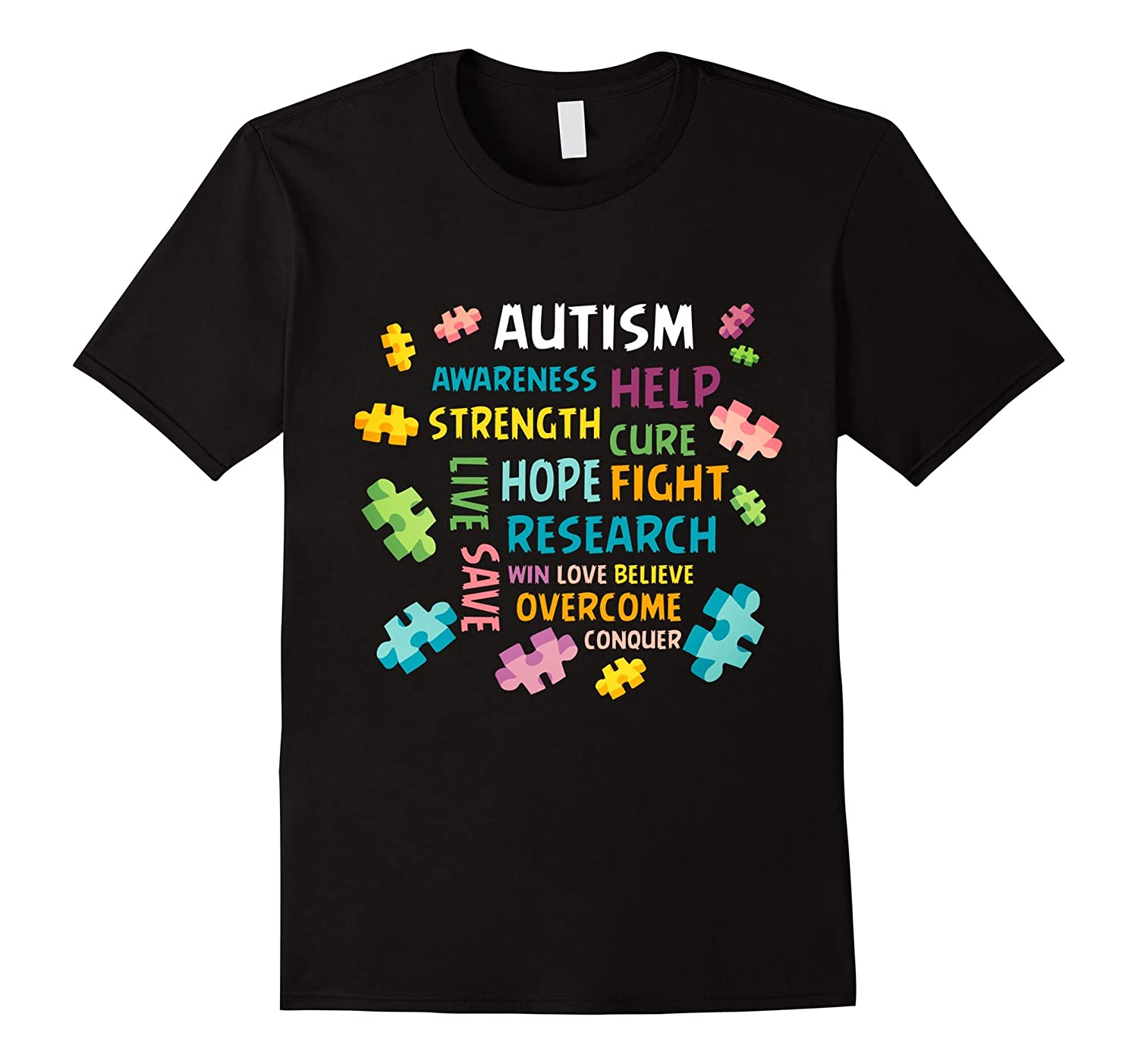 Autism awareness help strength cure hope fight Shirt-TH