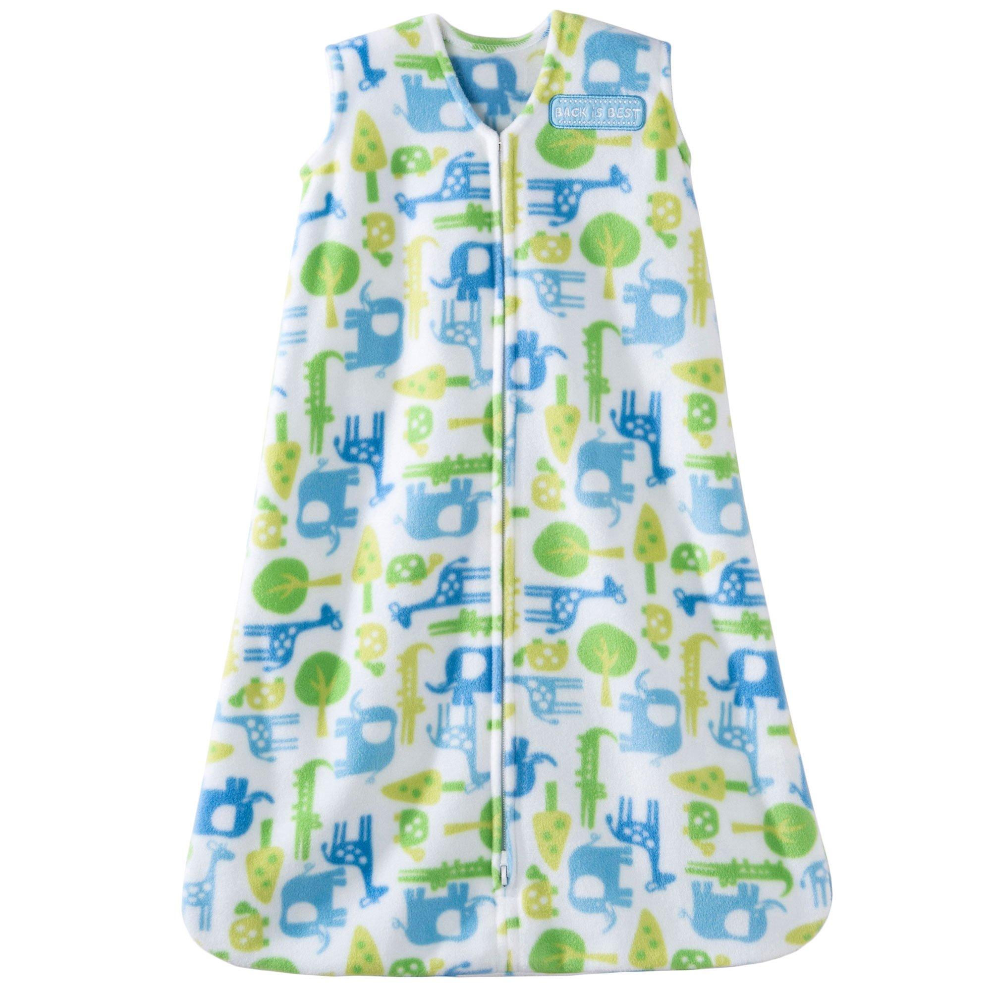 Halo SleepSack Micro-Fleece Wearable Blanket, Blue Jungle, Medium