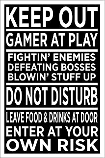 a1fcdcd8b0ce Spitzy s Keep Out Gamer at Play 12 by 18 Inch Poster