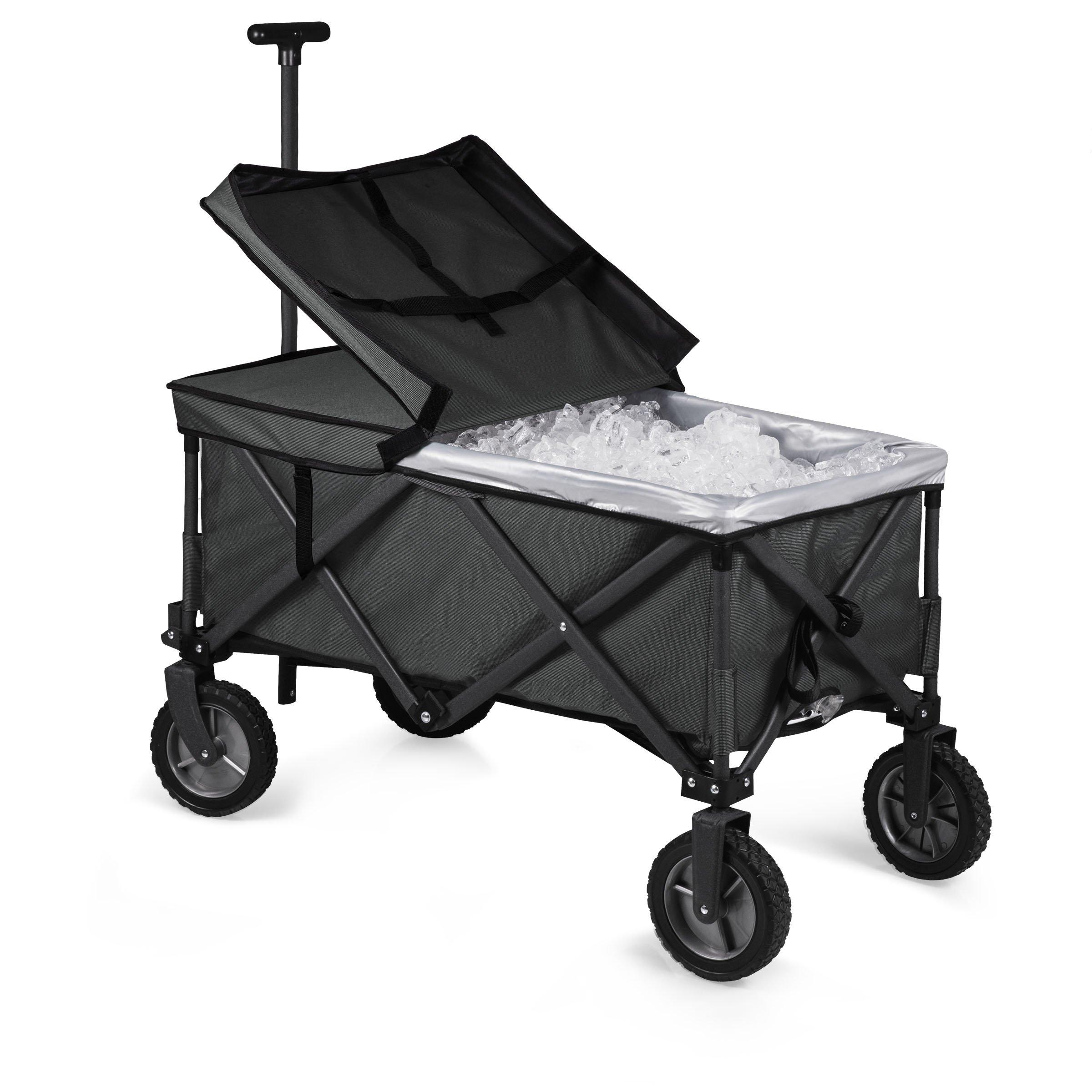 Picnic Time Collapsible Adventure Wagon Elite, Black/Gray