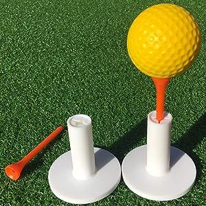SkyLife Golf Rubber Tee Holder Set for Driving Range Golf Practice Mat (1.5''/2''/2.6''/2.8''/3'')