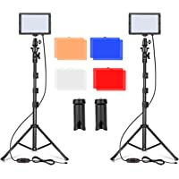 Emart LED Video Light 11 Brightness/4 Color Filters Dimmable Photography Continuous Table Top Lighting, Adjustable…
