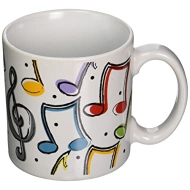 Music Notes Ceramic Mug