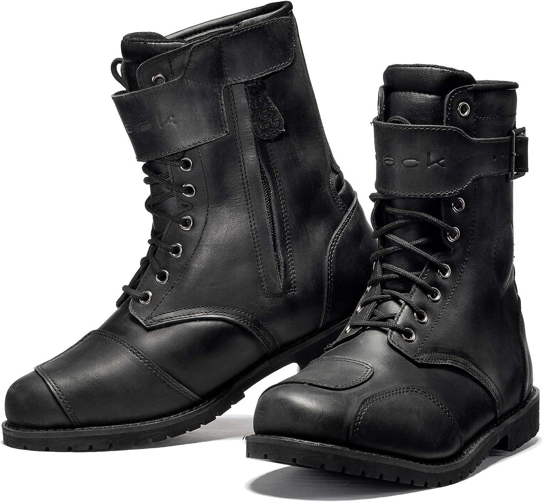 Black Heritage Wp Ankle Motorcycle Boots 42 Black Uk 8 Amazon Co Uk Car Motorbike