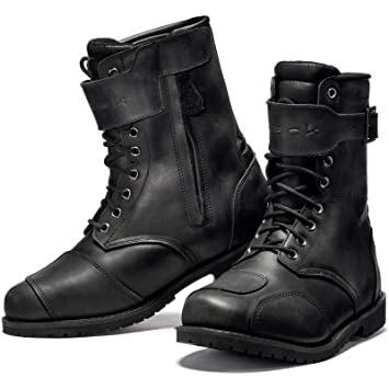Black Heritage Wp Motorcycle Boots Amazon Co Uk Sports Outdoors