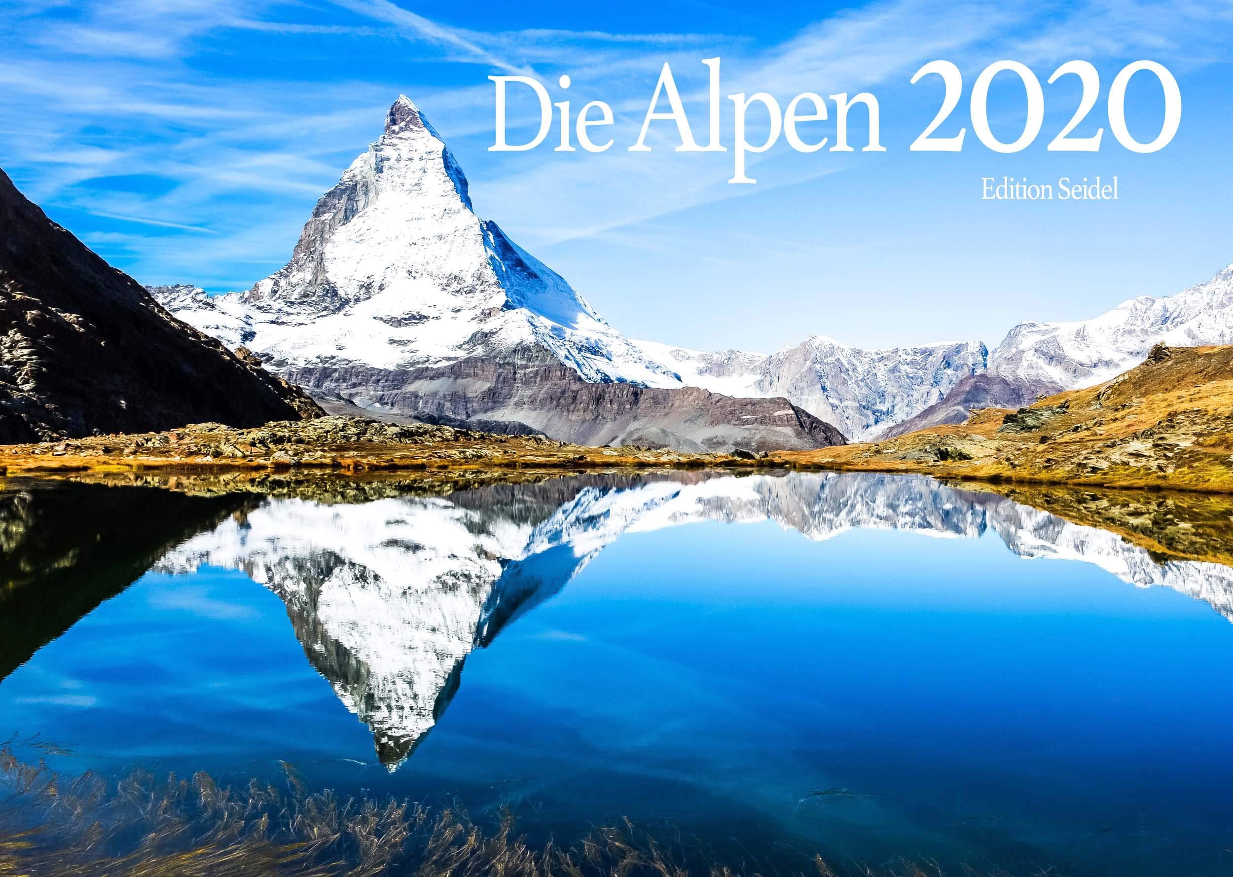 Edition Seidel Alpen Premium Kalender 2020 DIN A3 Wandkalender Berge