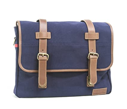 99ef88064c Tommy Hilfiger Workhorse Canvas Messenger Bag, Navy, One Size: Amazon.in:  Bags, Wallets & Luggage