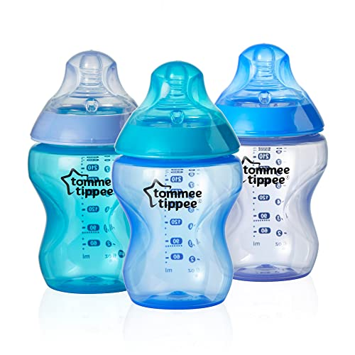 Tommee Tippee Closer to Nature – Colour My World biberones para joven, 9 Onza, 3 unidades)