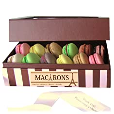 Leilalove Macarons 12 Quantitie- Up to 10 Parisian Favorite Flavor Assortments- A gift to remember- Gift box may vary in style