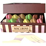 Leilalove Macarons 12 Macarons 12 French Assortments flavor collection - A gift to remember- Gift box may vary in style