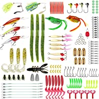 137-Pieces Gimland Soft Fishing Lures Kit with Free Tackle Box