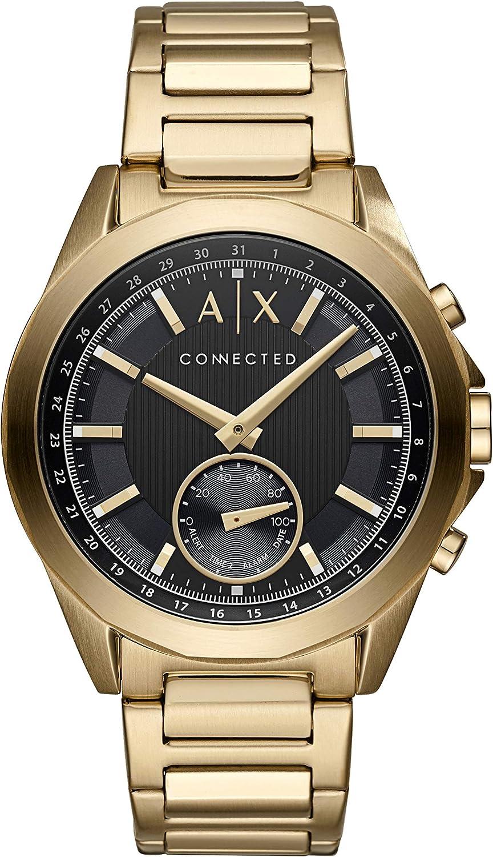 Armani Exchange Smartwatch Híbrido para Hombre de Connected con Correa en Silicona