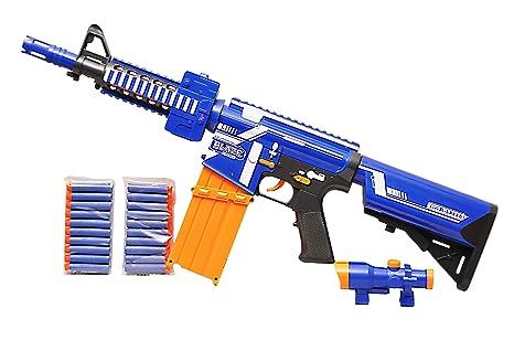 28'' Blaze Storm Electric Semi Auto Gun m4 style Battery Operated 20 Soft  Bullet Gun Darts Toy Gun: Amazon.co.uk: Toys & Games