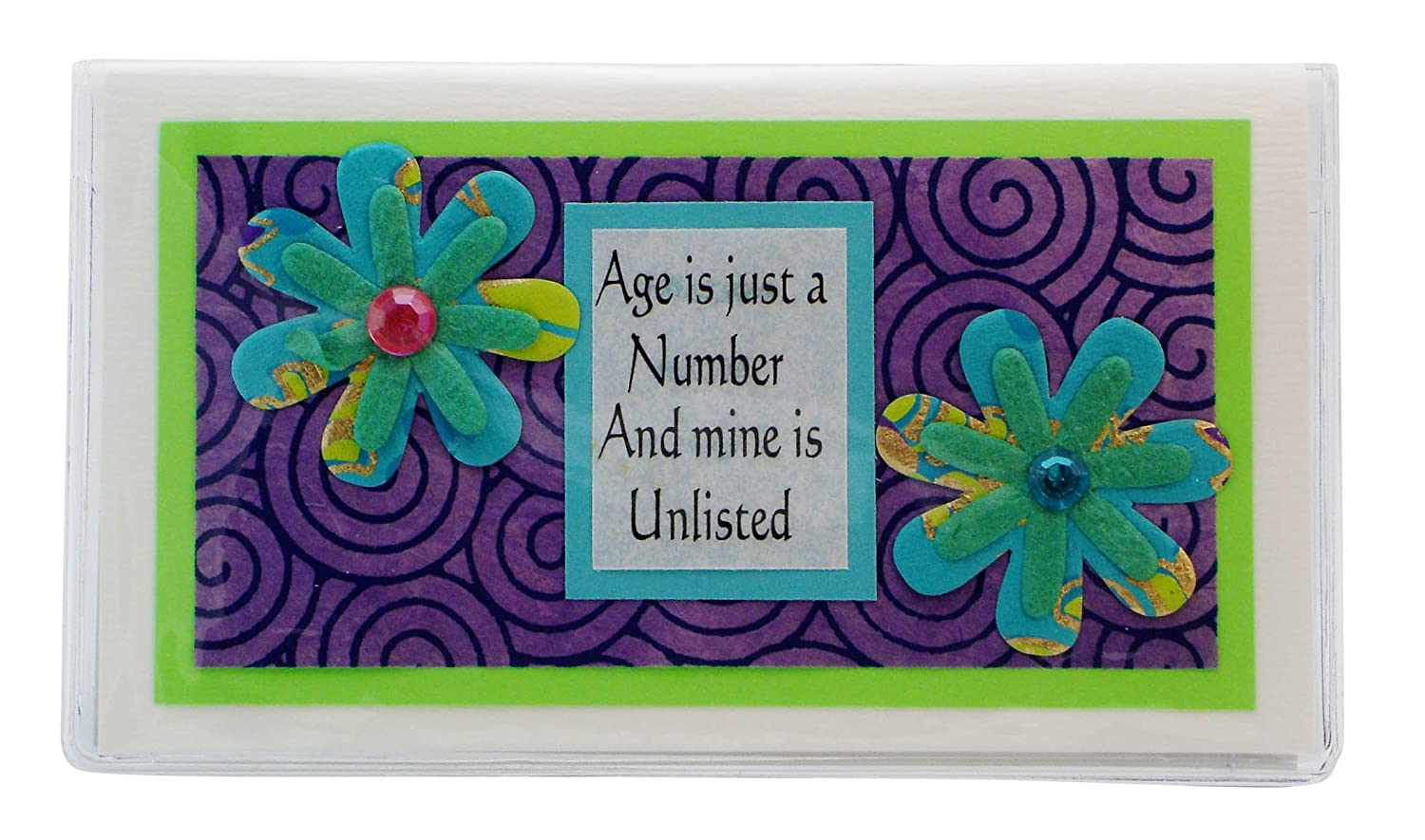 Age Humor Checkbook Cover Made in the Usa