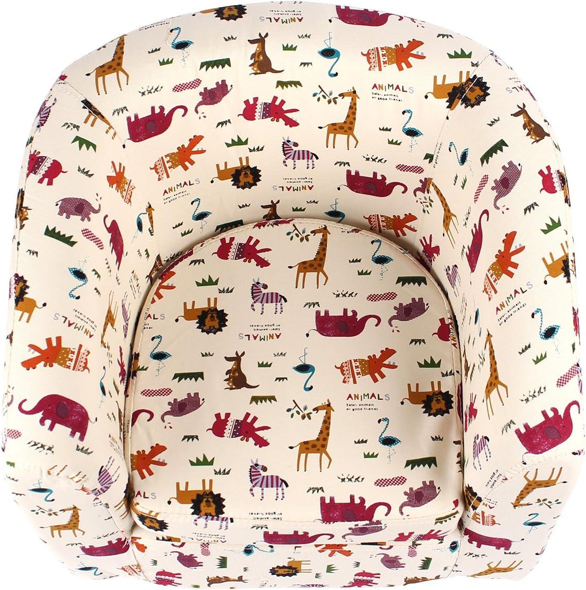 Owl Emall Life Kid/'s Armchair Children/'s Tub Chair Cartoon Sofa Wooden Frame