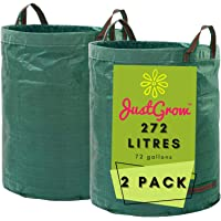 JUSTGROW™ Reusable Garden Waste Bags - Heavy Duty Garden Leaf Bags, Lawn Bags, Reusable Collapsible Leaf Bags, Backyard…