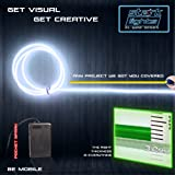 3m/9.8ft Large 3.2 mm Thick - White Neon LED Light