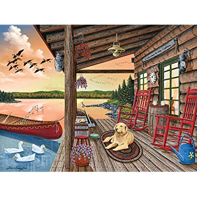White Mountain Puzzles Welcome to The Cabin - 1000 Piece Jigsaw Puzzle: Toys & Games [5Bkhe1402438]