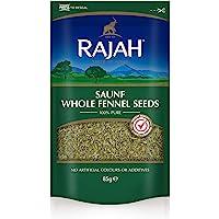 RAJAH Semillas de hinojo, enteras - Whole Saunf Fennel Seeds - Mezcla india de especias para numerosos platos 85 g