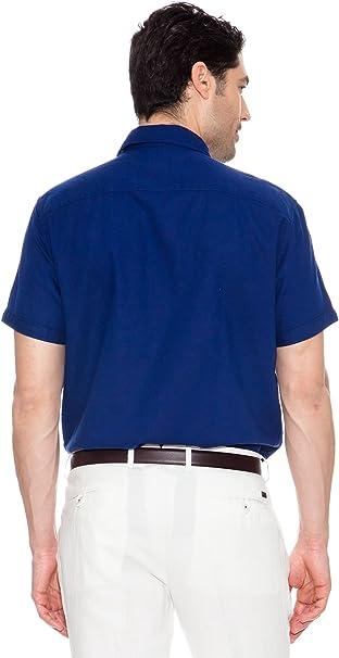 Pedro del Hierro Camisa Logo Grande Azul M: Amazon.es: Ropa y ...