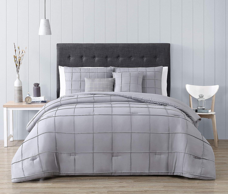 Geneva Home Fashion Nellie Comforter Set, Queen, Gray