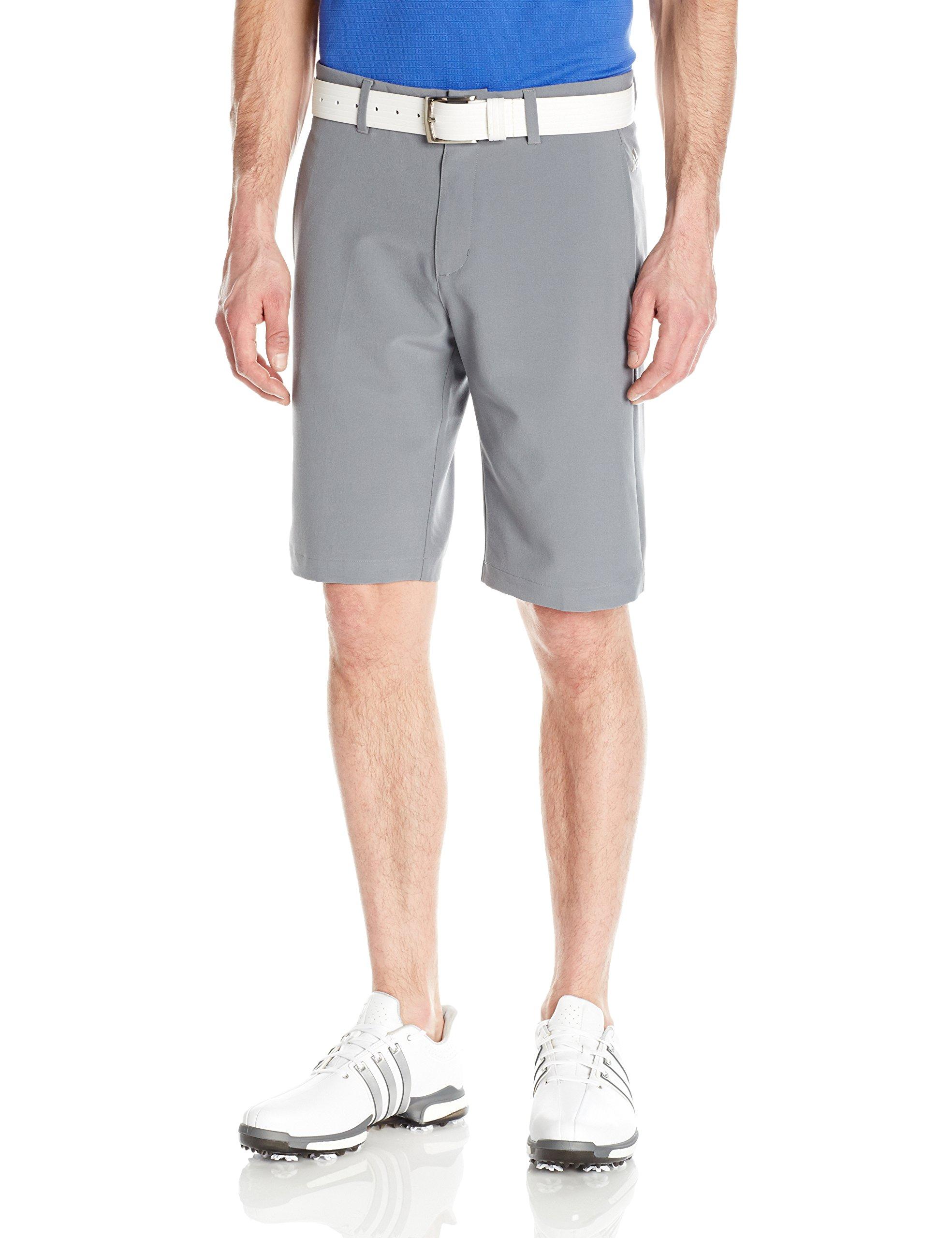 adidas Golf Ultimate+ 3-Stripes Short, Vista Grey, 32'' by adidas