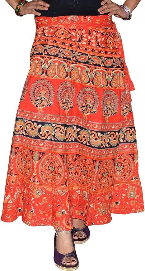 Envoltorio de algodón con impresiones de Indian falda de plumas de ...