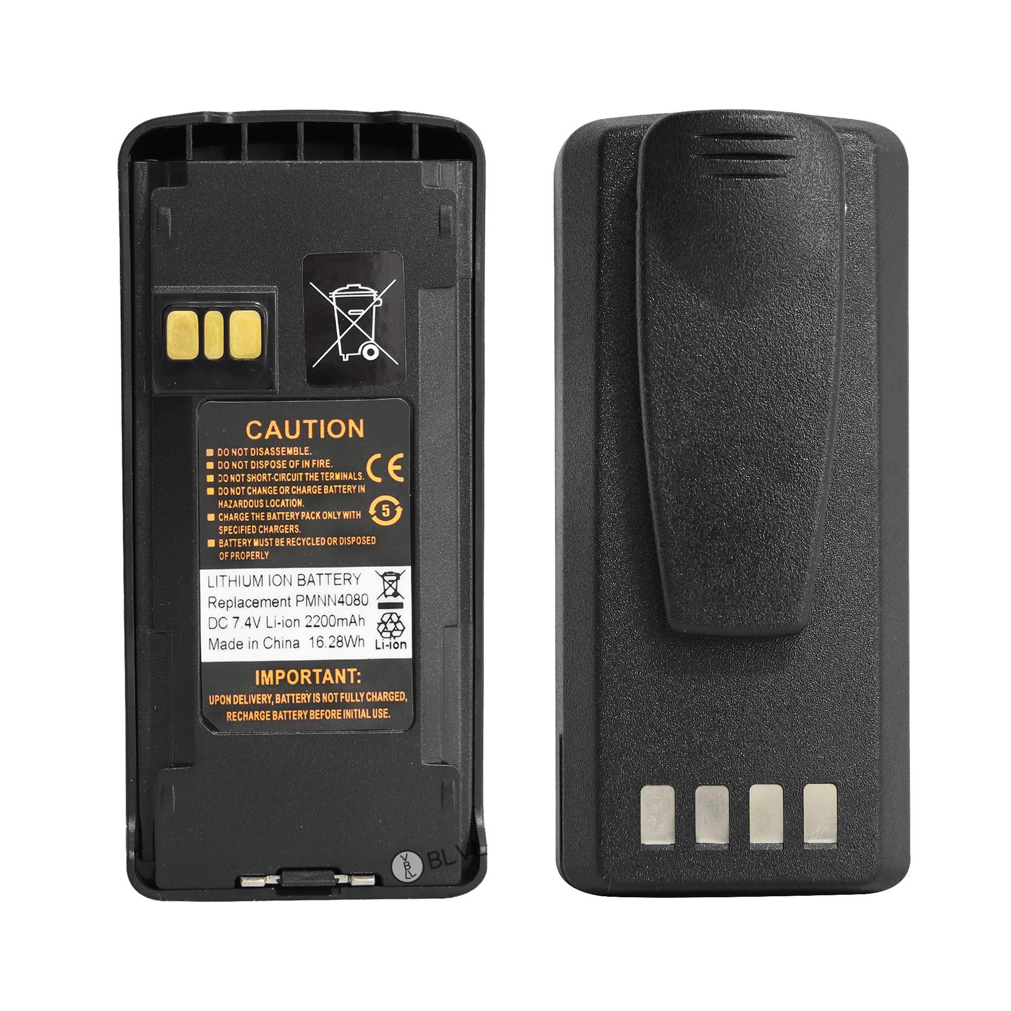Guanshan PMNN4080 7.4V 2200mAh Li-ion Battery for Motorola CP185 CP476 CP477 CP1300 CP1600 CP1660 EP350 Radio