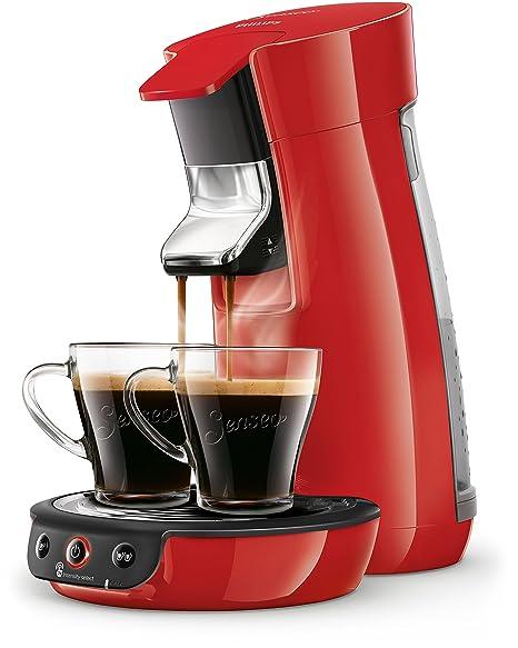 Philips Senseo Viva Cafe HD6563/80 Kaffeepadmaschine (Crema plus, Kaffee-Stärkeeinstellung) rot
