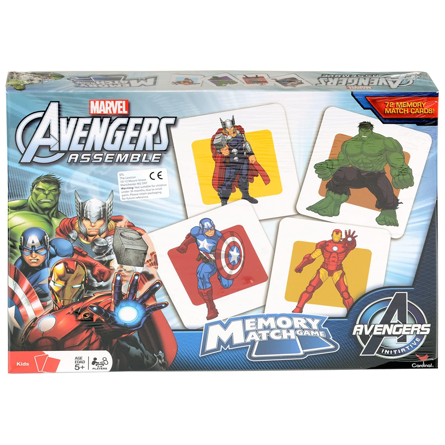 Amazon Marvel Avengers Memory Match Game with Thor Iron Man